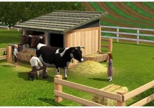 Les Vaches arrive sur les Sims